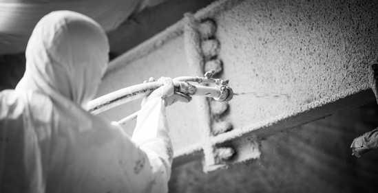 Flocage bâtiment - flocage coupe-feu - isolation flocage